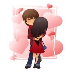 Detailed flat of hugging vector
