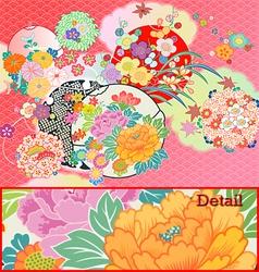 kimono vector image vector image