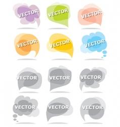 set bubbles for speech vector image vector image