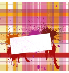 vignette with checked background vector image vector image