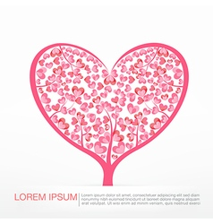003 Heart Tree element for valentine day and vector image vector image