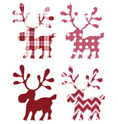 deer isolated for design prints labels vector image vector image