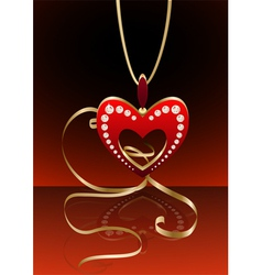 heart pendant vector image vector image