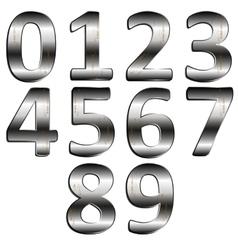 iron digit vector image