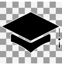 Mortar Board or Graduation Cap vector image