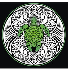 Turtle in a tribal style vector image
