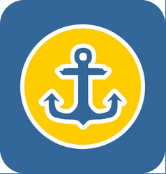 sea sticker icon anchor vector image vector image
