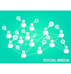 Social media background vector