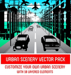 Urban Scenery Pack vector image vector image