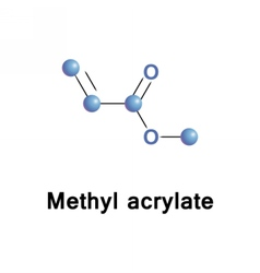 Methyl acrylate ester vector image