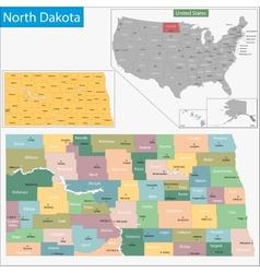 North Dakota map vector image