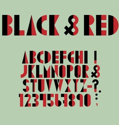 Red black font numbers and punctuation mark in vector image vector image