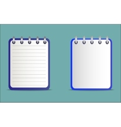 Set of notepads is blue in two variants vector image vector image