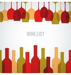 wine glass bottle art background vector image vector image