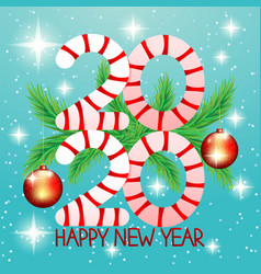 2020 new year christmas banner with fir branches vector image
