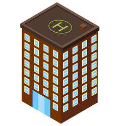 3d design for office building in brown color vector image