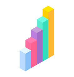 3d graphic business statistics visualization of vector image
