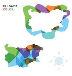 Abstract color map of Bulgaria vector