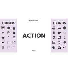 Action button symbol - graphic elements for your vector