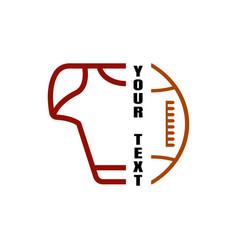 American football logo icon simple design vector