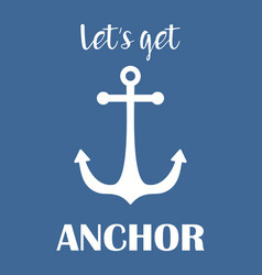anchor simple print vector image
