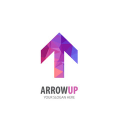 arrow up logo for business company simple vector image