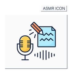 Asmr color icon vector