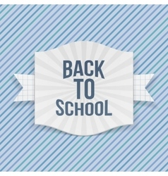 Back to School striped Label vector