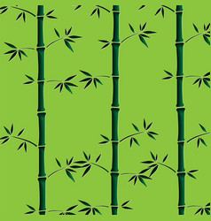 Background with green bamboo stems seamless vector