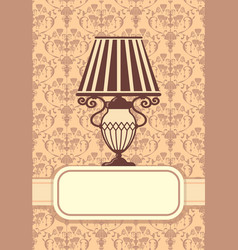 background with lamps vector image