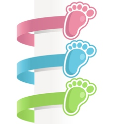 Bafeet labels vector