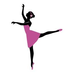 ballerina 6 vector image