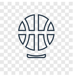 basketball concept linear icon isolated on vector image