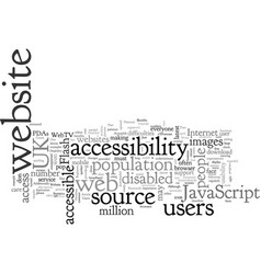 Benefits of an accessible website part increase vector
