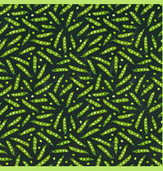 Black board seamless endless pattern of green vector