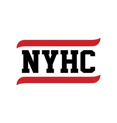 Black red text new york hardcore vector