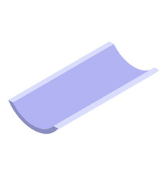 Building gutter icon isometric style vector