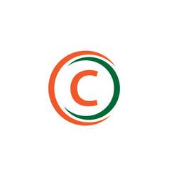 c company logo template design vector image