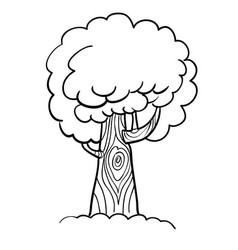 Cartoon image of tree icon tree symbol vector