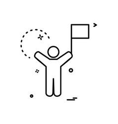 celebration dance icon design vector image