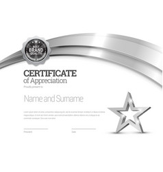 certificate template diploma modern design or vector image