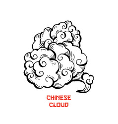 Chinese clouds and wind blows isolated vector