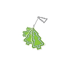 Christmas trinket vector