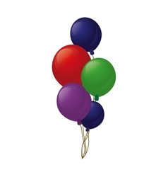 Colored branch balloons party vector