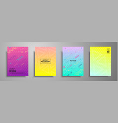 colorful placard templates set with abstract vector image