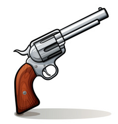 cowboy gun color design vector image