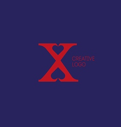 Creative logo with a double meaning the letter X vector image