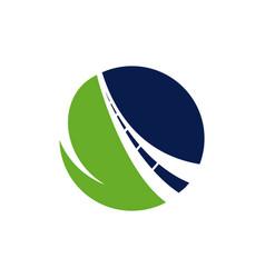Creative road journey logo design sign concept vector