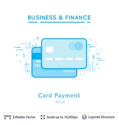 credit card symbols on white vector image