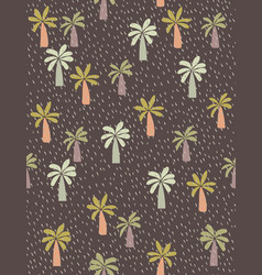 cute hand drawn palms pattern vector image